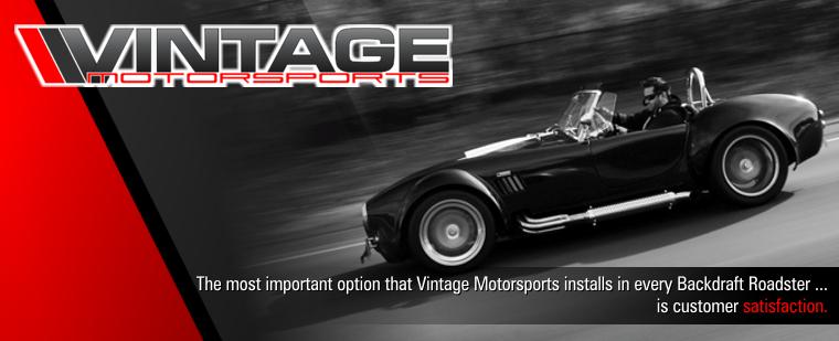 Vintage Motorsports Backdraft Racing Roadster Online Quote